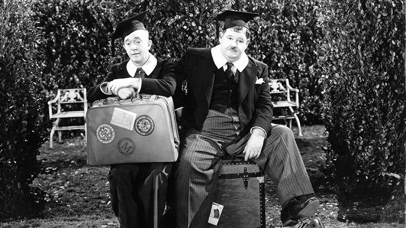 Image from A Chump at Oxford + The Laurel-Hardy Murder Case
