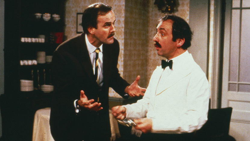 Image from Fawlty Towers + Ripping Yarns + Out of the Trees