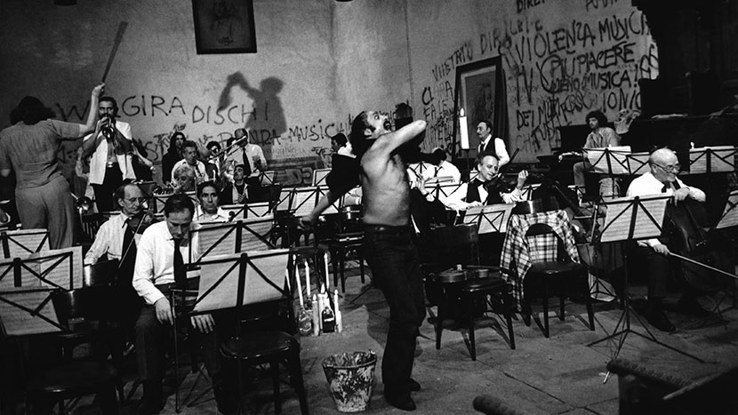 Fellini: A Director's Notebook + Orchestra Rehearsal