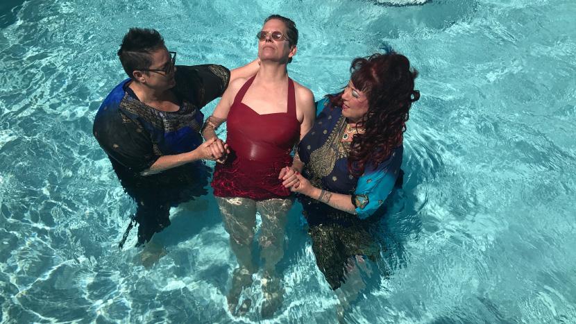 Image from Water Makes Us Wet Dir Beth Stephens, Annie Sprinkle